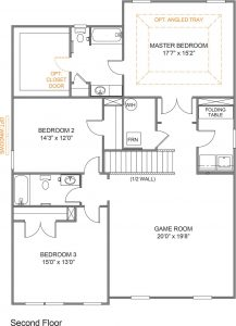 Parker Floor-Plan Second Floor